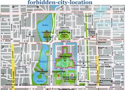 Forbidden City Maps Map of Forbidden City Beijing